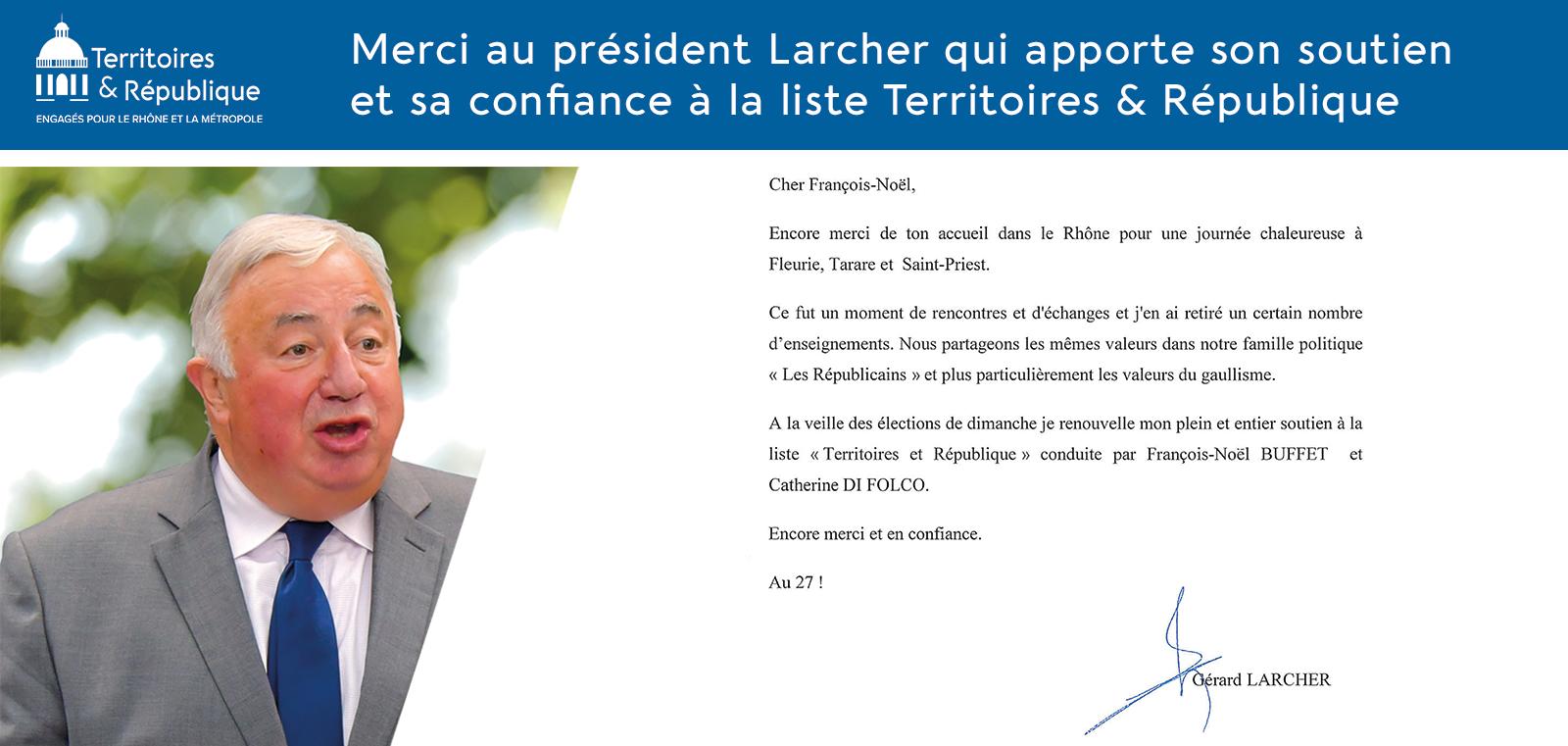 Soutine de Gérard Larcher, président du Sénat